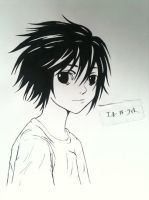L Lawliet by laurenenen