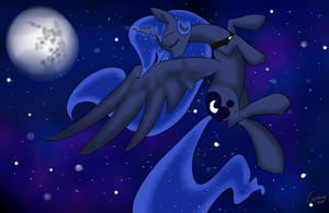 Controlling the moon by Cupikagi
