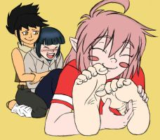 Tickling Shyness Away by Rosusonikku by neverb4