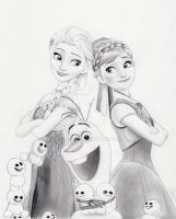 Frozen Fever (Graphite Drawing) by julesrizz