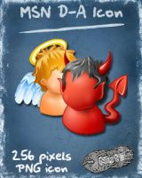 MSN D-A dock icon by nuteduard