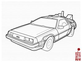 Delorean:BackToTheFuture ver. by BloodyMoogle