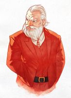 Dapper Santa by nakanoart
