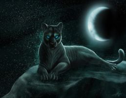 Panthera - Goddess of the Moon by Golphee