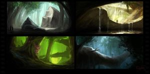 Forest speedpaintings by CucumberBoy