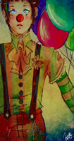 pierrot the clown by CarrotCakeBandit