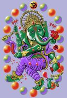 Green Ganesha by qetza
