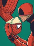 Spiderman x Deadpool by maXKennedy