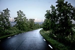 curved road by MisanthropicBastard
