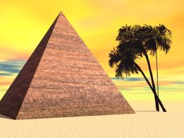 Premade Pyramid Background by Variety-Stock