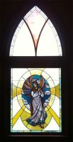 Stained Glass Angel Window Installed by ImaginedGlass