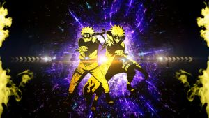 Naruto and Minato: Father and Son by FRUITYNITE