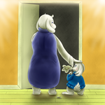 Sue Sakamoto Meets Her New Mom (Undertale) by Mewscaper
