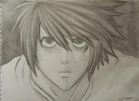 L from Death Note by mangaxai