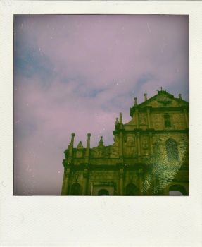 st. paul ruins in polaroid by wronggirl