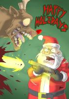 Have a Bloody Christmas everyone by Blunt-Katana