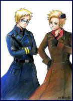 APH Su-san and Den by MaryIL