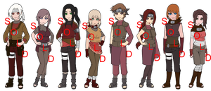 Mixed Iwa Naruto OC Adoptables - SOLD OUT by mistressmaxwell