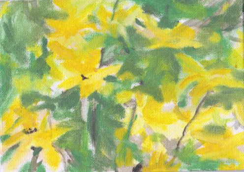 yellow summer flowers by ScullyNess