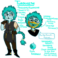 Steven Universe OC: Turquoise [ OLD REF ] by BitterBile