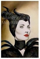 Angelina Jolie as Maleficent by jolabrodnica