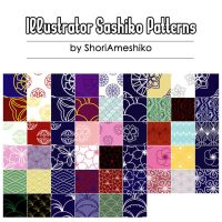 Illustrator Sashiko Patterns by ShoriAmeshiko