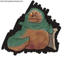 Request: Jabba the Hut Chibi by alybel