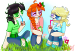 Flowerfluff Girls by polarbear1234
