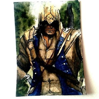 Connor Kenway ACEO CARD by saiYacon-Arts
