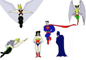 Justice League Heroes by pastorgavin