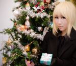 Merry Christmas from Saber XD by kitsunesqueak