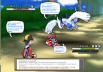 Gold and Lugia vs Earthbound Hippie by DarkraDx