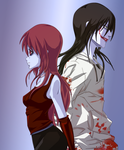Red the blood taker x jeff the killer by kanogt