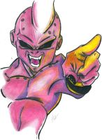 Kid buu, color practice by flaviudraghis