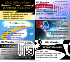 business card examples by KitWarrior