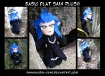 basic 'flat' Saix Plushie by KeyshaKitty