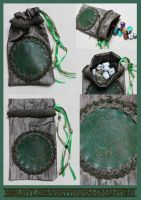 Luxury Chalice Well Pouch 02: For Tarot, Dice etc. by ImogenSmid