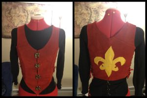 Fleur de Lis Leather Bodice by Mink-the-Satyr