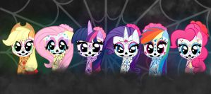 Sugar Skull Mane 6 by Bratzoid