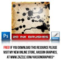 20 Ink Photoshop Brushes by jhasson