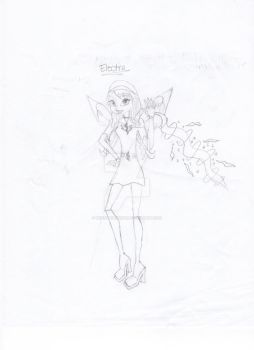 Electra Winx Sketch by WinxThinkPink