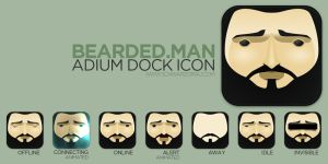 Bearded Man Adium Flurry Icon by pfuispinne