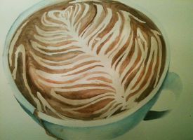 Latte Art (Painting) by Insinidy