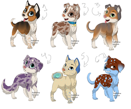 FREE PUPPY ADOPTABLES! by Maplefang