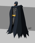 Armoured Batman by MangleDangle