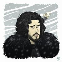 Jon Snow (Kit Harington) by Entropician