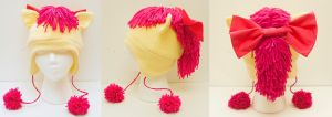Apple Bloom Hat with Bow by kitchycat