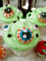 Eye Soup Cupcakes by Sliceofcake