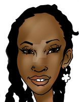 Face caricature d 043013 by raccoon-eyes