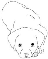 Free Puppeh Lineart 03 by Dogstarred